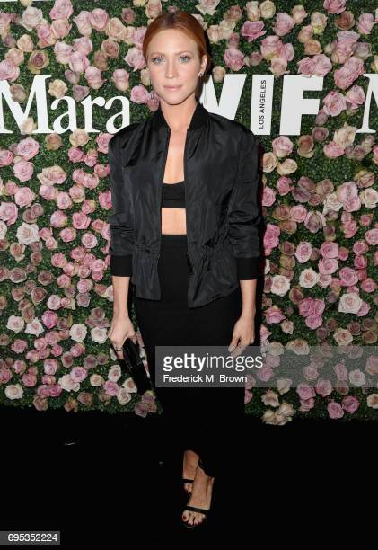 Actor Brittany Snow attends Max Mara Celebration of Zoey Deutch as The 2017 Women In Film Max Mara Face of The Future Award Recipient at Chateau...