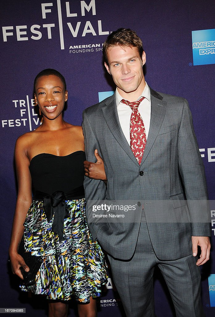 Actor Brock Harris and guest attend the screening of 'G.B.F.' during the 2013 Tribeca Film Festival at Chelsea Clearview Cinemas on April 19, 2013 in New York City.