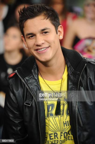 Actor Bronson Pelletier visits MuchOnDemand to promote his new movie 'The Twilight Saga New Moon' at the MuchMusic HQ on November 13 2009 in Toronto...