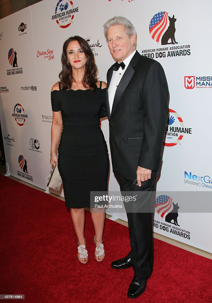 Actor <a gi-track='captionPersonalityLinkClicked' href=/galleries/search?phrase=Bruce+Boxleitner&family=editorial&specificpeople=221415 ng-click='$event.stopPropagation()'>Bruce Boxleitner</a> (R) and Verena King (L) attend the 4th annual American Humane Association Hero Dog Awards at The Beverly Hilton Hotel on September 27, 2014 in Beverly Hills, California.