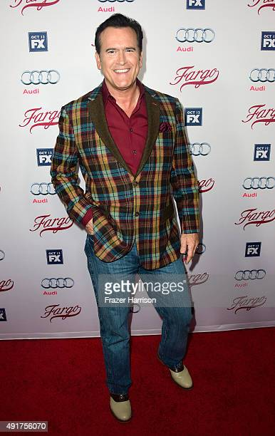 Actor Bruce Campbell arrives at the Premiere Of FX's 'Fargo' Season 2 at ArcLight Cinemas on October 7 2015 in Hollywood California