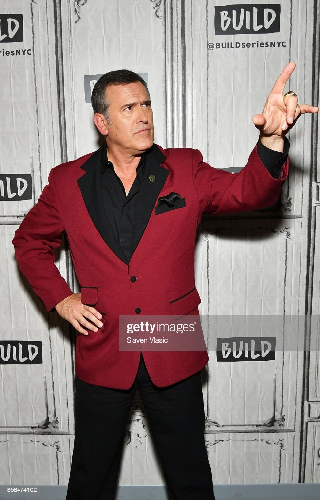 Actor Bruce Campbell visits Build to discuss 'Ash Vs Evil Dead' at Build Studio on October 6, 2017 in New York City.