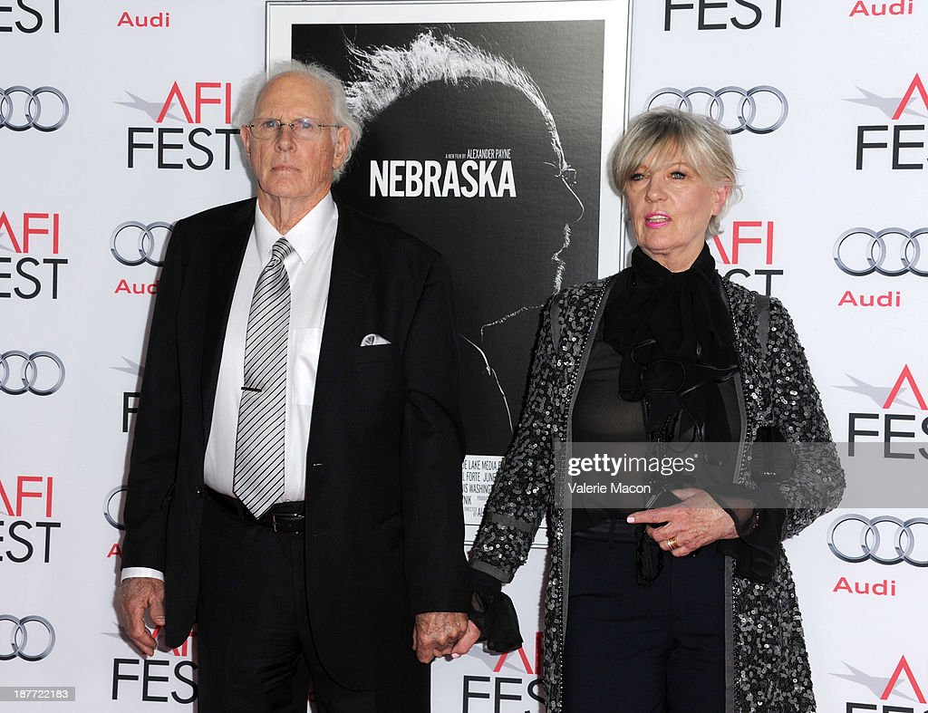 Actor <a gi-track='captionPersonalityLinkClicked' href=/galleries/search?phrase=Bruce+Dern&family=editorial&specificpeople=239171 ng-click='$event.stopPropagation()'>Bruce Dern</a> (L) and Andrea Beckett attend the screening of 'Nebraska' during AFI FEST 2013 presented by Audi at TCL Chinese Theatre on November 11, 2013 in Hollywood, California.