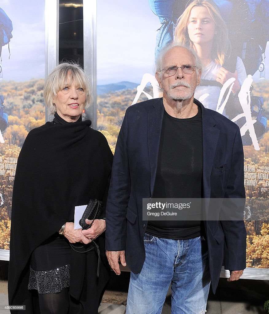 Actor Bruce Dern and wife arrive at the Los Angeles premiere of 'Wild' at AMPAS Samuel Goldwyn Theater on November 19, 2014 in Beverly Hills, California.