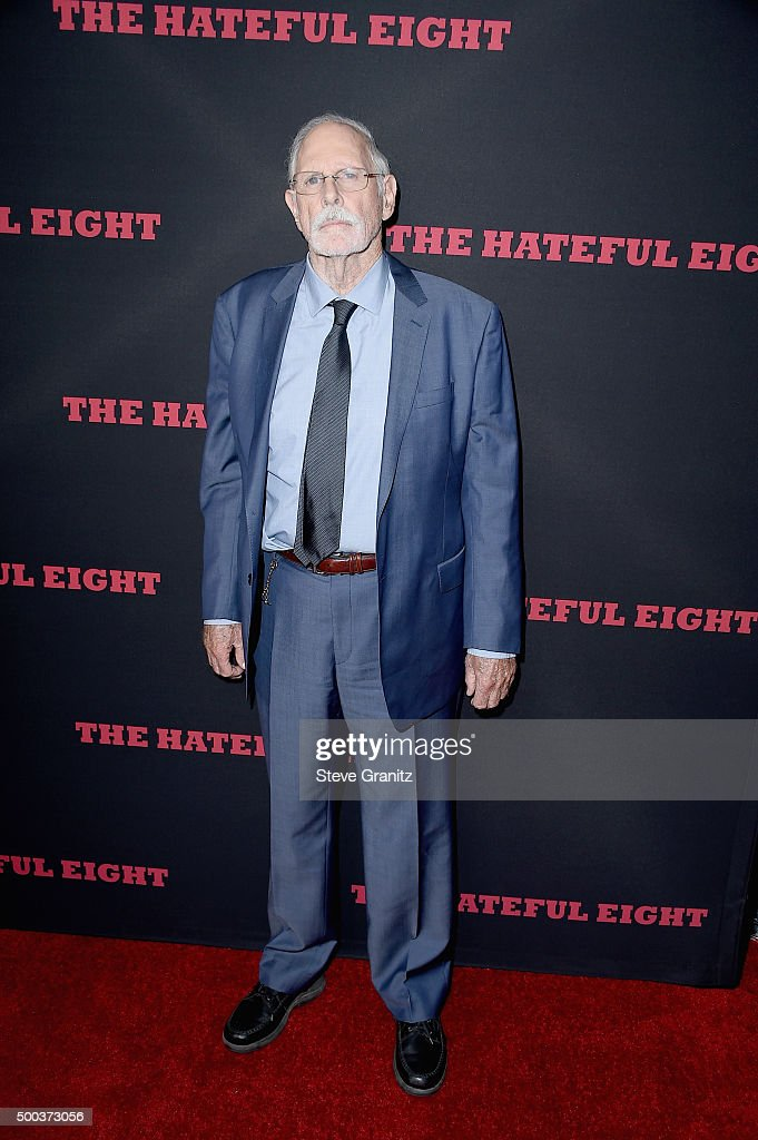 Actor Bruce Dern attends the Premiere of The Weinstein Company's 'The Hateful Eight' at ArcLight Cinemas Cinerama Dome on December 7, 2015 in Hollywood, California.