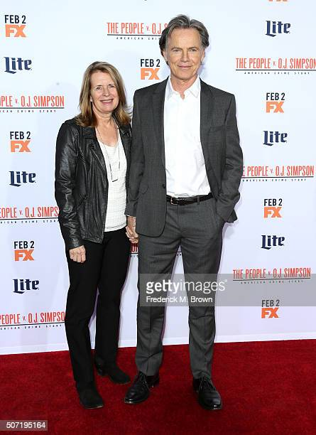Actor Bruce Greenwood and Susan Devlin attend the premiere of FX's American Crime Story The People V OJ Simpson at Westwood Village Theatre on...