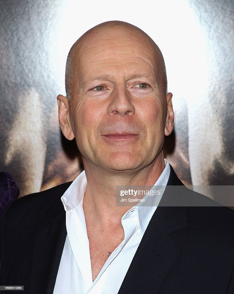 Actor Bruce Williis attends the 'After Earth' premiere at the Ziegfeld Theater on May 29, 2013 in New York City.