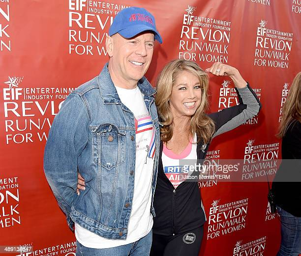 Actor Bruce Willis and Denise Austin attend the 21st Annual EIF Revlon Run Walk For Women on May 10 2014 in Los Angeles California