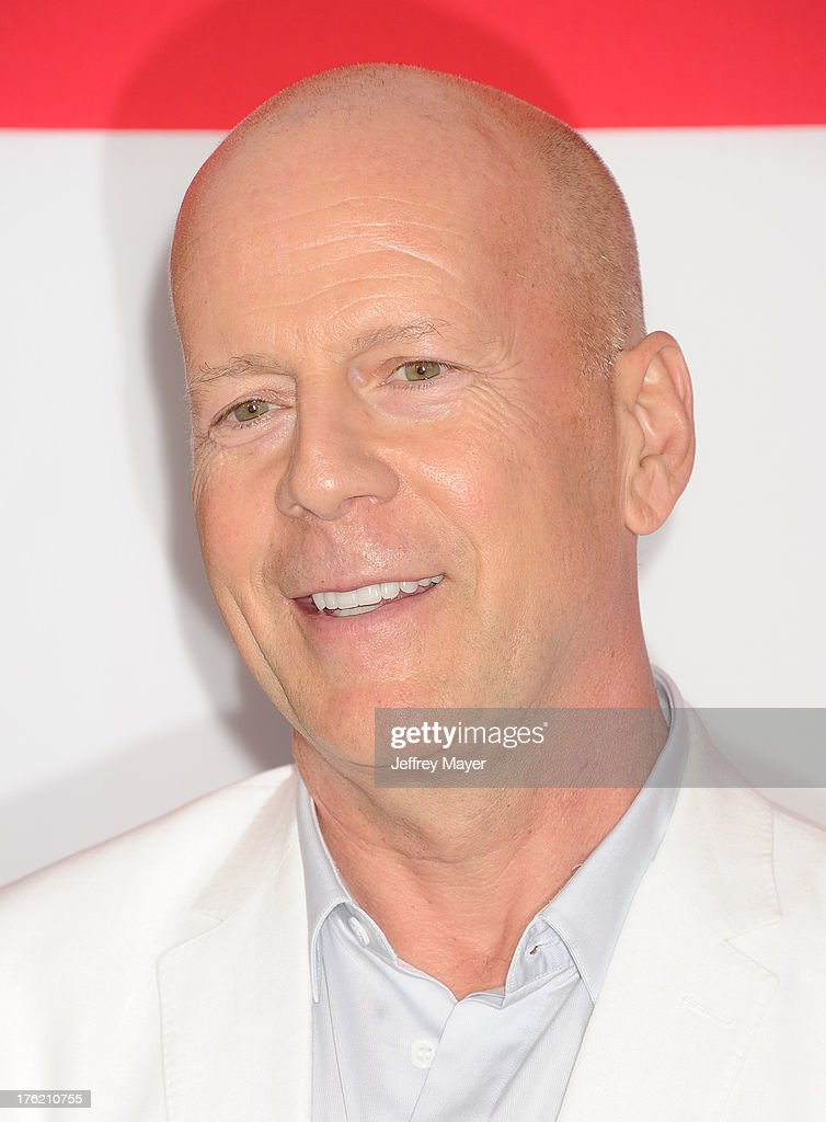 Actor <a gi-track='captionPersonalityLinkClicked' href=/galleries/search?phrase=Bruce+Willis&family=editorial&specificpeople=202185 ng-click='$event.stopPropagation()'>Bruce Willis</a> arrives at the 'RED 2' - Los Angeles Premiere at Westwood Village on July 11, 2013 in Los Angeles, California.