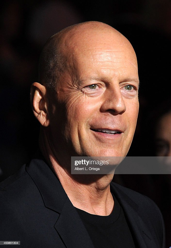 Actor <a gi-track='captionPersonalityLinkClicked' href=/galleries/search?phrase=Bruce+Willis&family=editorial&specificpeople=202185 ng-click='$event.stopPropagation()'>Bruce Willis</a> arrives for the Premiere Of Dimension Films' 'Sin City: A Dame To Kill For' held at the TCL Chinese Theatre on August 19, 2014 in Hollywood, California.