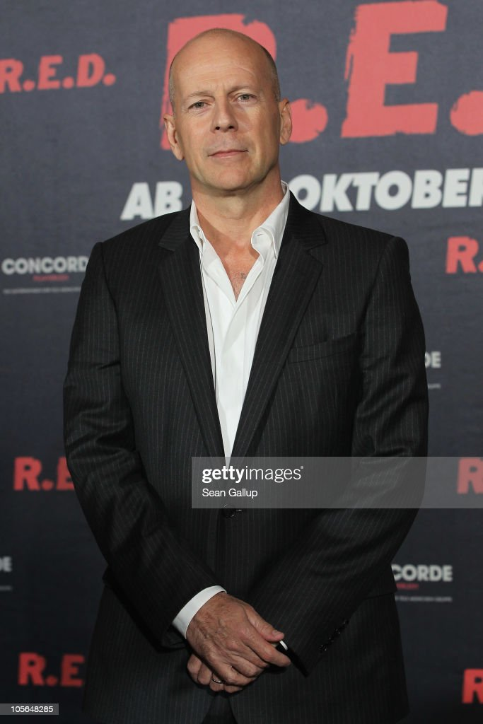 Actor <a gi-track='captionPersonalityLinkClicked' href=/galleries/search?phrase=Bruce+Willis&family=editorial&specificpeople=202185 ng-click='$event.stopPropagation()'>Bruce Willis</a> attends a photocall to present the movie 'R.E.D.' at the Regent Hotel on October 18, 2010 in Berlin, Germany.
