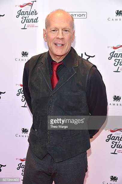 Actor Bruce Willis attends 'Steven TylerOut on a Limb' Show to Benefit Janie's Fund in Collaboration with Youth Villages Red Carpet at David Geffen...