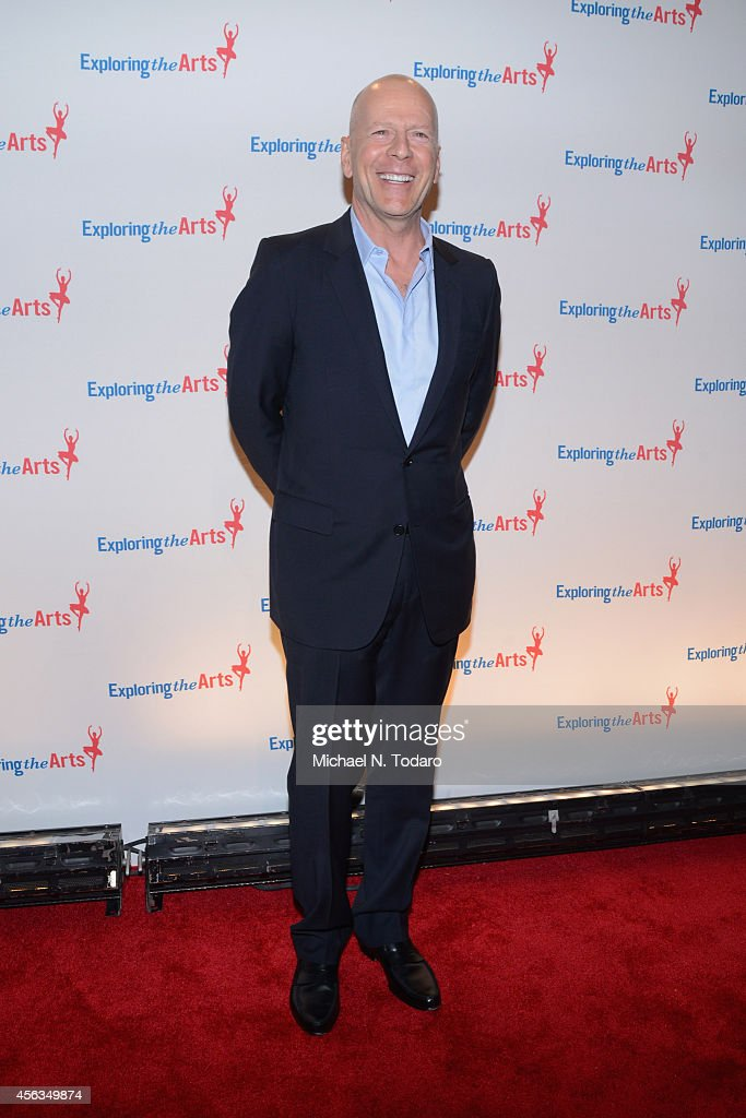 Actor <a gi-track='captionPersonalityLinkClicked' href=/galleries/search?phrase=Bruce+Willis&family=editorial&specificpeople=202185 ng-click='$event.stopPropagation()'>Bruce Willis</a> attends the 8th Annual Exploring the Arts Gala at Cipriani 42nd Street on September 29, 2014 in New York City.