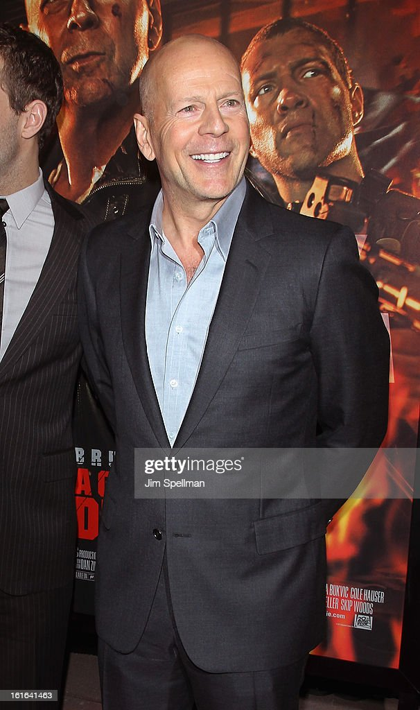 Actor Bruce Willis attends the 'A Good Day To Die Hard' Fan Celebration at AMC Empire on February 13, 2013 in New York City.