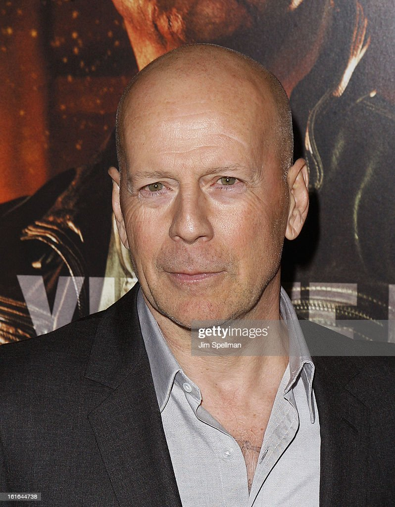 Actor <a gi-track='captionPersonalityLinkClicked' href=/galleries/search?phrase=Bruce+Willis&family=editorial&specificpeople=202185 ng-click='$event.stopPropagation()'>Bruce Willis</a> attends the 'A Good Day To Die Hard' Fan Celebration at AMC Empire on February 13, 2013 in New York City.