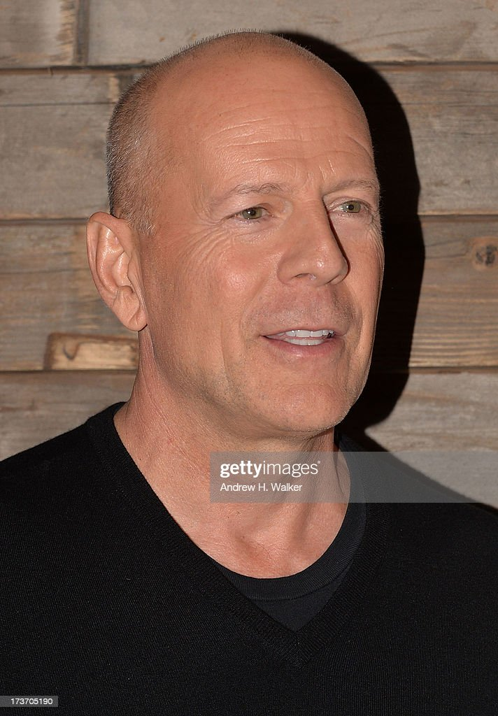 Actor <a gi-track='captionPersonalityLinkClicked' href=/galleries/search?phrase=Bruce+Willis&family=editorial&specificpeople=202185 ng-click='$event.stopPropagation()'>Bruce Willis</a> attends The Cinema Society and Bally screening of Summit Entertainment's 'Red 2' after party at Refinery Hotel on July 16, 2013 in New York City.