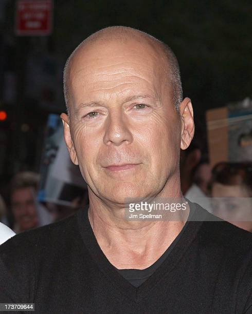 Actor Bruce Willis attends The Cinema Society Bally screening of Summit Entertainment's 'Red 2' at the Museum of Modern Art on July 16 2013 in New...
