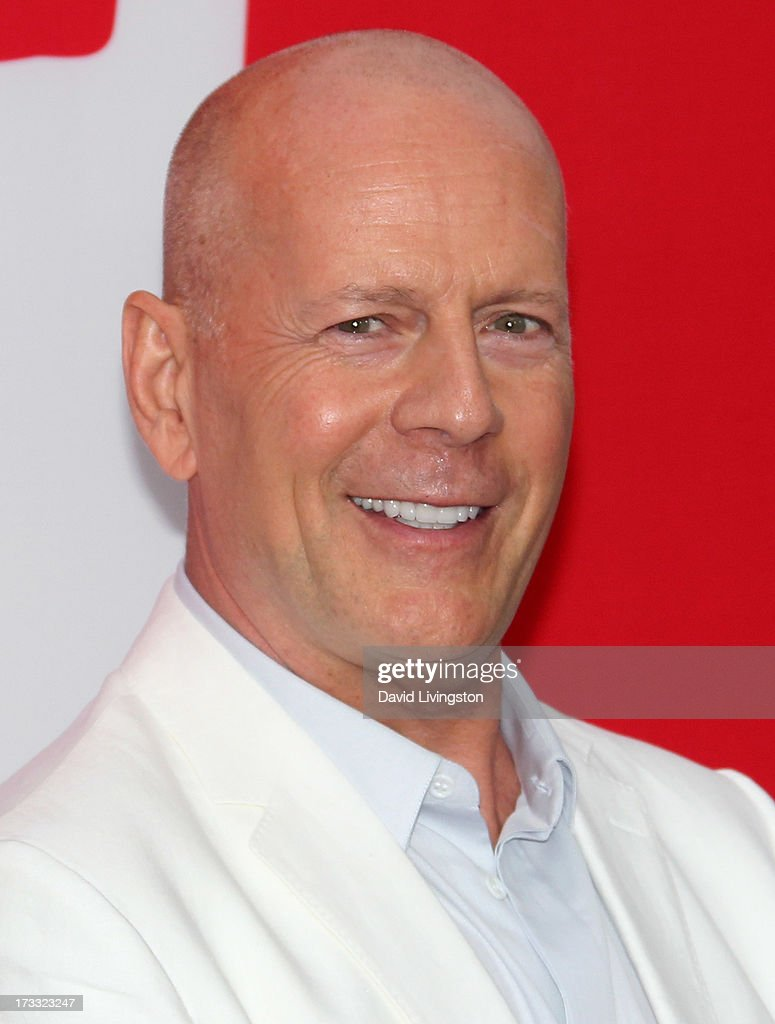 Actor <a gi-track='captionPersonalityLinkClicked' href=/galleries/search?phrase=Bruce+Willis&family=editorial&specificpeople=202185 ng-click='$event.stopPropagation()'>Bruce Willis</a> attends the premiere of Summit Entertainment's 'RED 2' at Westwood Village on July 11, 2013 in Los Angeles, California.
