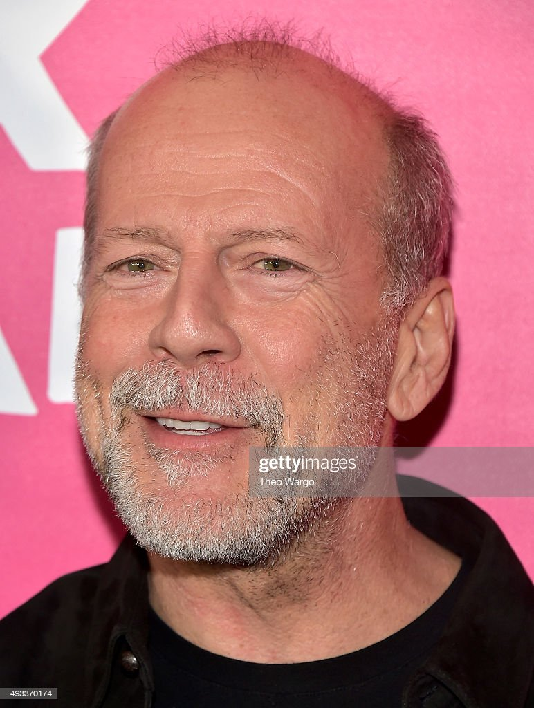 Actor <a gi-track='captionPersonalityLinkClicked' href=/galleries/search?phrase=Bruce+Willis&family=editorial&specificpeople=202185 ng-click='$event.stopPropagation()'>Bruce Willis</a> attends the 'Rock The Kasbah' New York Premiere at AMC Loews Lincoln Square 13 theater on October 19, 2015 in New York City.
