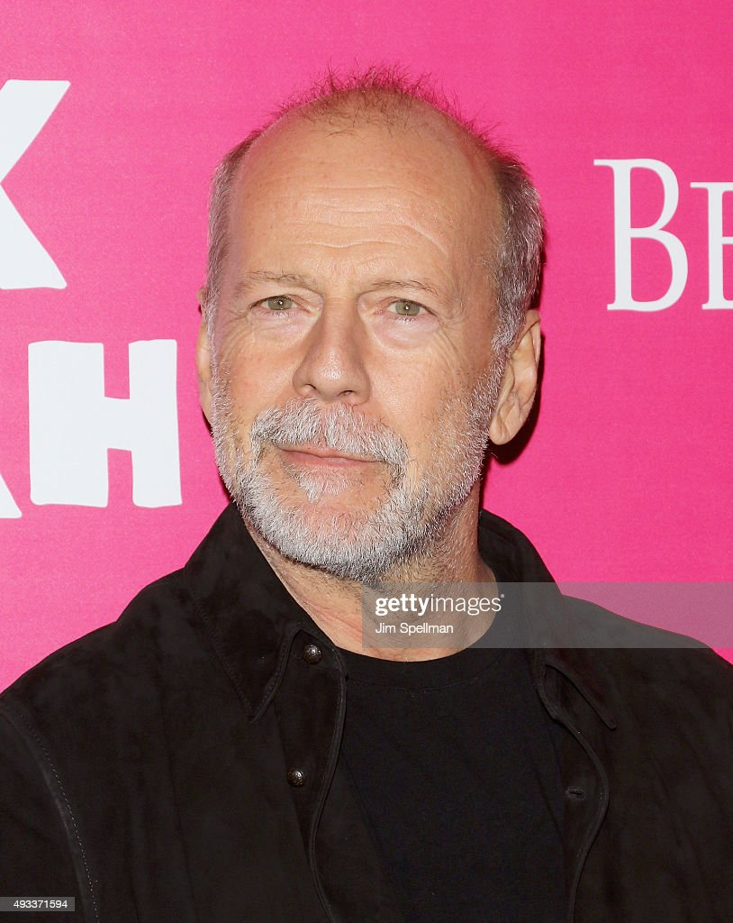Actor <a gi-track='captionPersonalityLinkClicked' href=/galleries/search?phrase=Bruce+Willis&family=editorial&specificpeople=202185 ng-click='$event.stopPropagation()'>Bruce Willis</a> attends the 'Rock The Kasbah' New York premiere at AMC Loews Lincoln Square on October 19, 2015 in New York City.