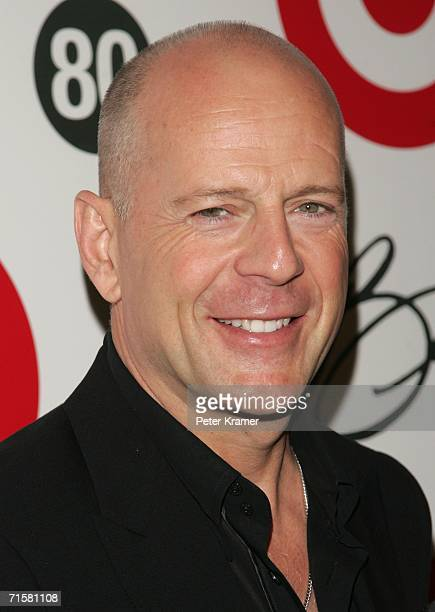 Actor Bruce Willis attends Tony Bennett's 80th birthday celebration hosted by Target at The Museum of Natural History on August 3 2006 in New York...