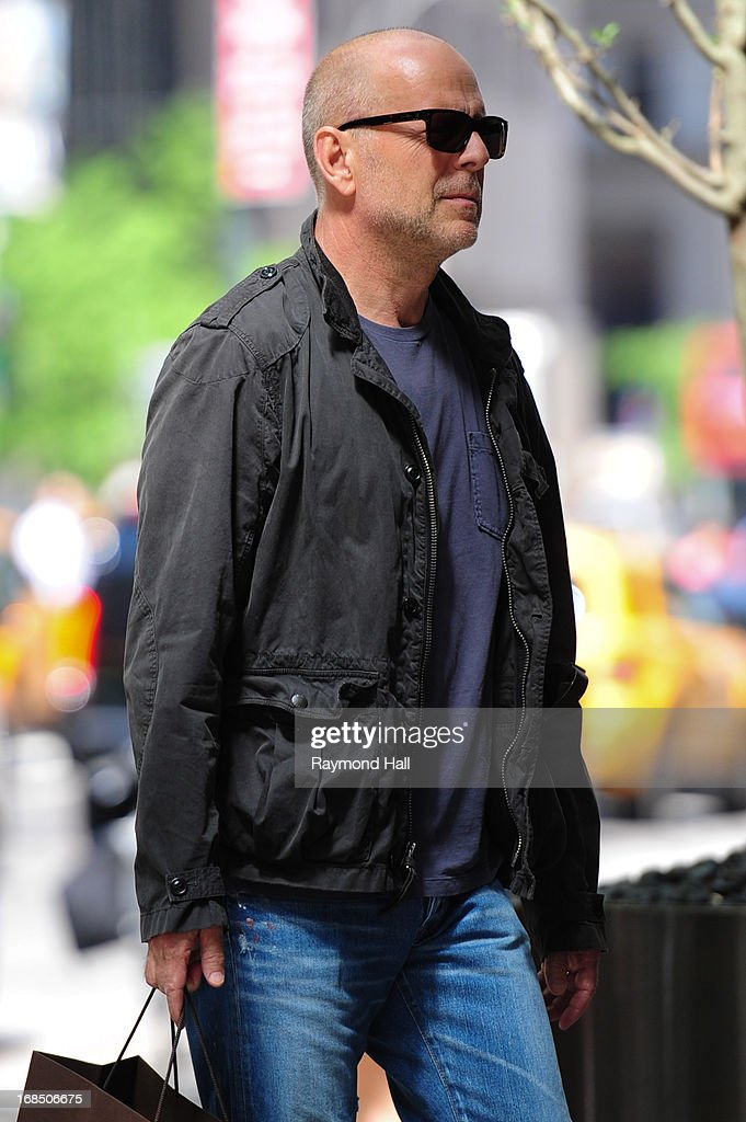 Actor Bruce Willis is seen on May 10, 2013 in the Soho section of New York City.