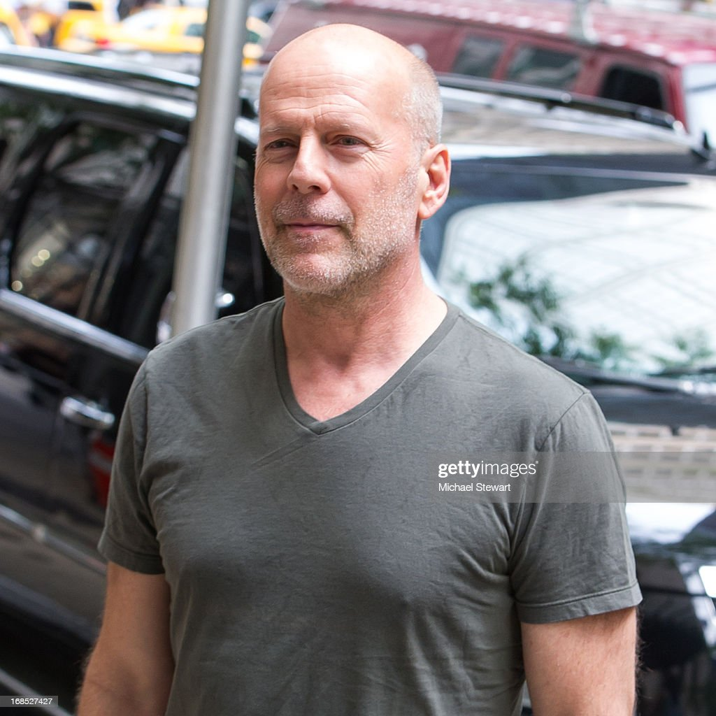 Actor Bruce WIllis seen on the streets of Manhattan on May 10, 2013 in New York City.