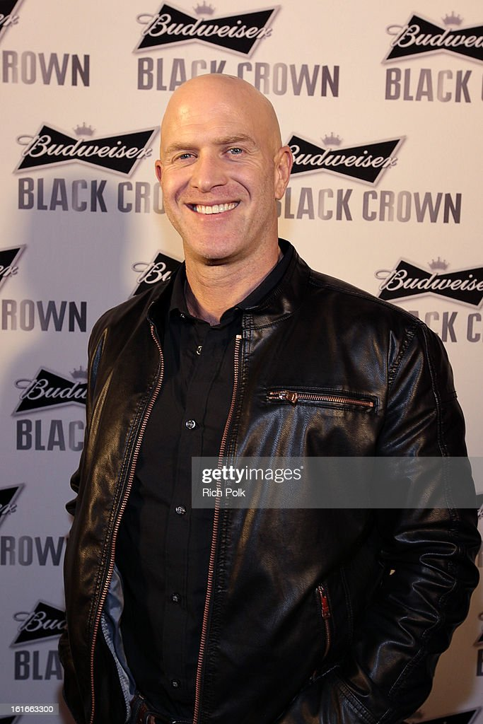 Actor Bruno Gunn attends the Budweiser Black Crown Launch Party at gibson/baldwin showroom on February 13, 2013 in Los Angeles, California.