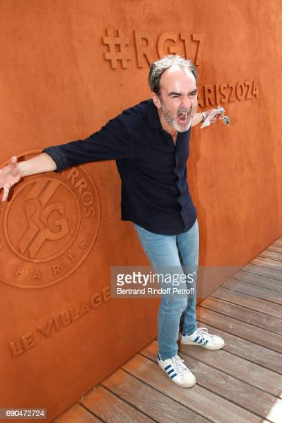 Actor Bruno Solo attends the 2017 French Tennis Open Day Four at Roland Garros on May 31 2017 in Paris France
