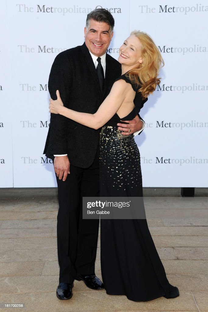 Actor Bryan Batt (L) and actress Patricia Clarkson attend the Metropolitan Opera season opening production of 'Eugene Onegin' at The Metropolitan Opera House on September 23, 2013 in New York City.