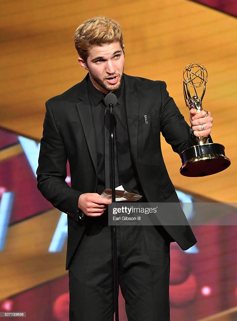 Actor <a gi-track='captionPersonalityLinkClicked' href=/galleries/search?phrase=Bryan+Craig&family=editorial&specificpeople=8088252 ng-click='$event.stopPropagation()'>Bryan Craig</a> accepts Emmy Award onstage at the 43rd Annual Daytime Emmy Awards at the Westin Bonaventure Hotel on May 1, 2016 in Los Angeles, California.