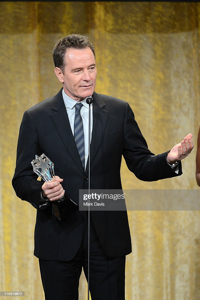 Actor <a gi-track='captionPersonalityLinkClicked' href=/galleries/search?phrase=Bryan+Cranston&family=editorial&specificpeople=217768 ng-click='$event.stopPropagation()'>Bryan Cranston</a> accepts the Best Actor in a Drama Series award for 'Breaking Bad' onstage during Broadcast Television Journalists Association's third annual Critics' Choice Television Awards at The Beverly Hilton Hotel on June 10, 2013 in Los Angeles, California.