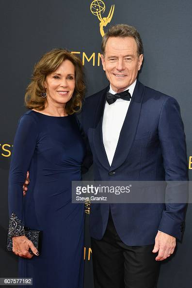 Actor Bryan Cranston and actress Robin Dearden attend the 68th Annual Primetime Emmy Awards at Microsoft Theater on September 18 2016 in Los Angeles...