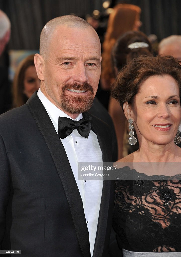 Actor Bryan Cranston and his wife Mickey Middleton attends the 85th Annual Academy Awards held at the Hollywood & Highland Center on February 24, 2013 in Hollywood, California.