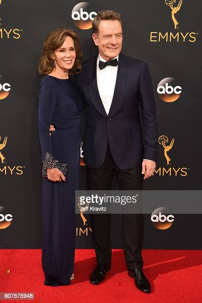 Actor Bryan Cranston and Robin Dearden attend the 68th Annual Primetime Emmy Awards at Microsoft Theater on September 18 2016 in Los Angeles...