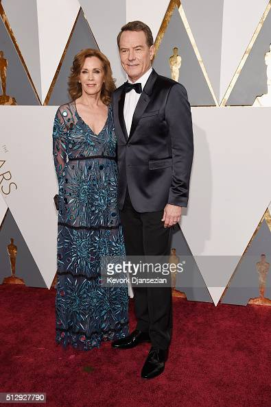 Actor Bryan Cranston and Robin Dearden attend the 88th Annual Academy Awards at Hollywood Highland Center on February 28 2016 in Hollywood California