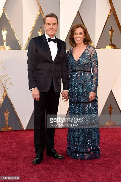 Actor Bryan Cranston and wife Robin Dearden attends the 88th Annual Academy Awards at Hollywood Highland Center on February 28 2016 in Hollywood...