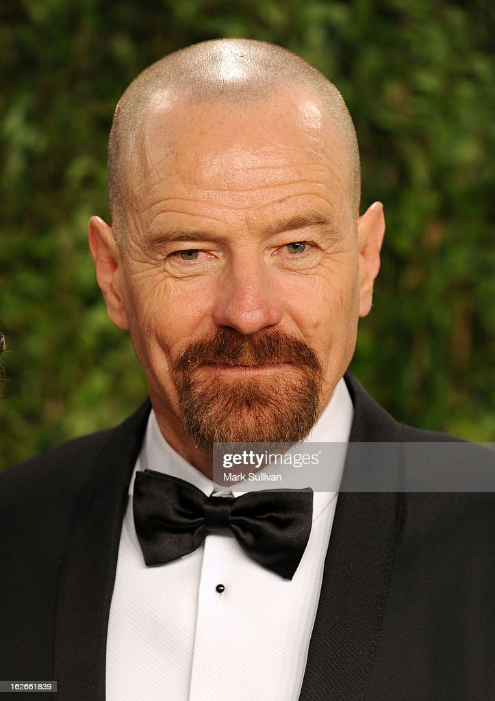 Actor Bryan Cranston arrive at the 2013 Vanity Fair Oscar Party at Sunset Tower on February 24, 2013 in West Hollywood, California.