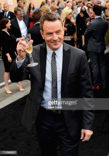 Actor Bryan Cranston arrives as AMC Celebrates the final episodes of 'Breaking Bad' at Sony Pictures Studios on July 24 2013 in Culver City California