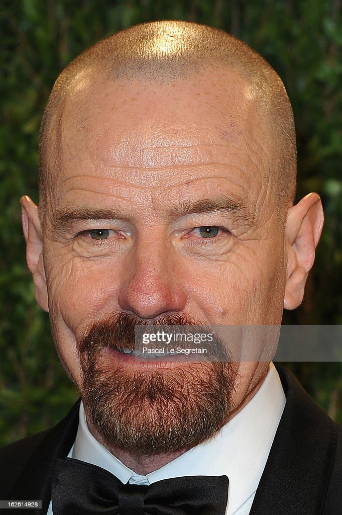Actor Bryan Cranston arrives at the 2013 Vanity Fair Oscar Party hosted by Graydon Carter at Sunset Tower on February 24, 2013 in West Hollywood, California.