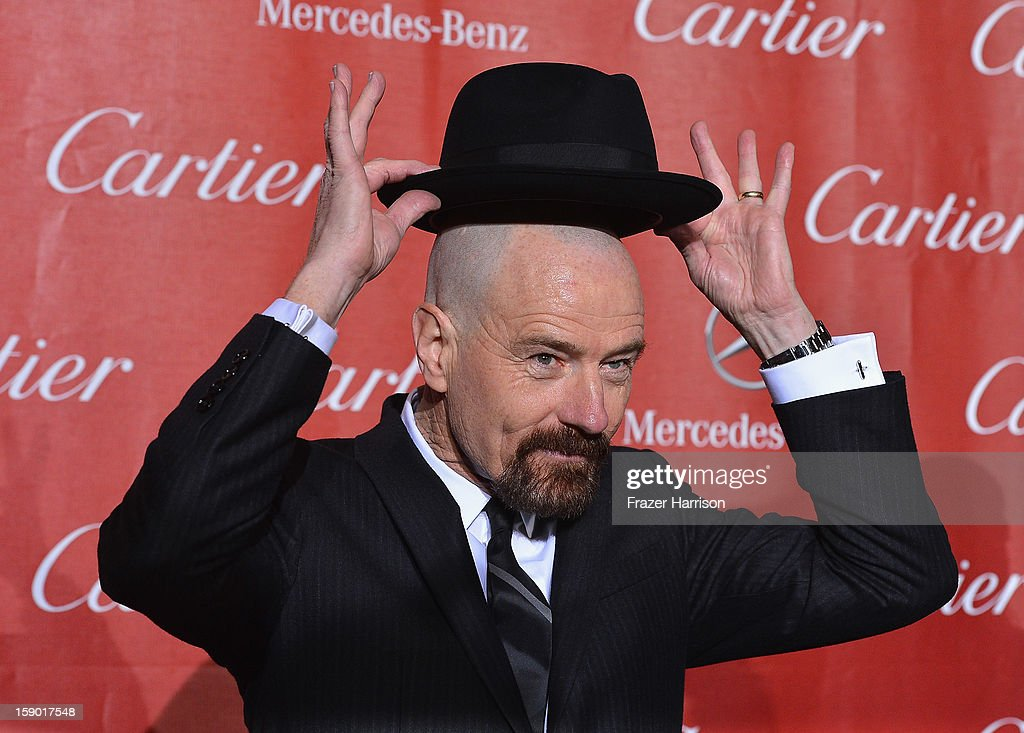 Actor <a gi-track='captionPersonalityLinkClicked' href=/galleries/search?phrase=Bryan+Cranston&family=editorial&specificpeople=217768 ng-click='$event.stopPropagation()'>Bryan Cranston</a> arrives at The 24th Annual Palm Springs International Film Festival Awards Gala on January 5, 2013 in Palm Springs, California.