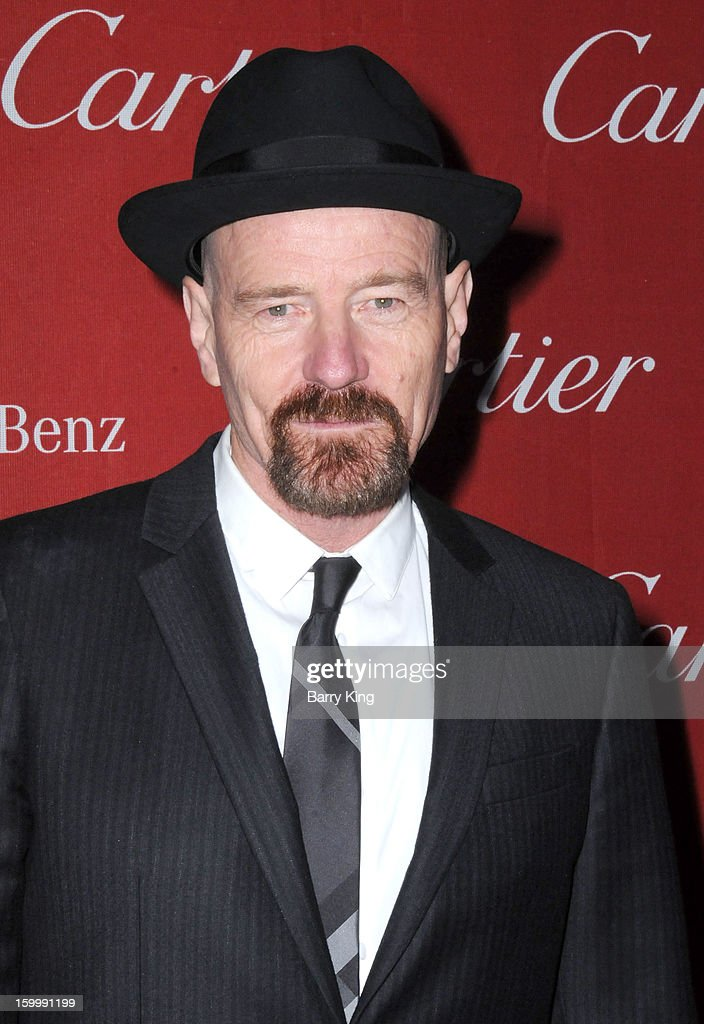 Actor <a gi-track='captionPersonalityLinkClicked' href=/galleries/search?phrase=Bryan+Cranston&family=editorial&specificpeople=217768 ng-click='$event.stopPropagation()'>Bryan Cranston</a> arrives at the 24th Annual Palm Springs International Film Festival Awards Gala at Palm Springs Convention Center on January 5, 2013 in Palm Springs, California.