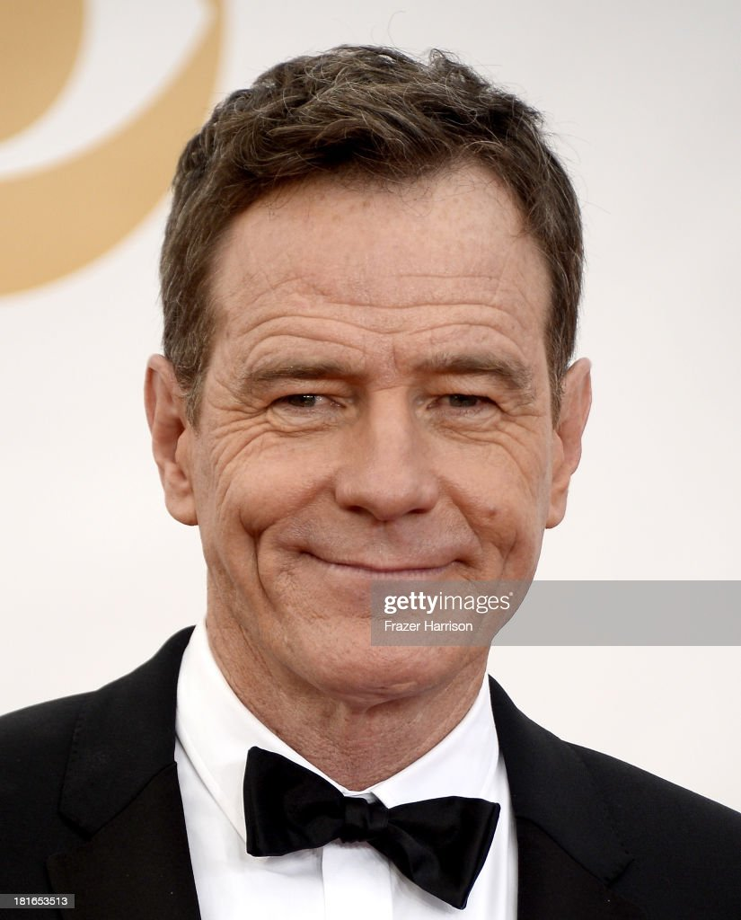 Actor <a gi-track='captionPersonalityLinkClicked' href=/galleries/search?phrase=Bryan+Cranston&family=editorial&specificpeople=217768 ng-click='$event.stopPropagation()'>Bryan Cranston</a> arrives at the 65th Annual Primetime Emmy Awards held at Nokia Theatre L.A. Live on September 22, 2013 in Los Angeles, California.