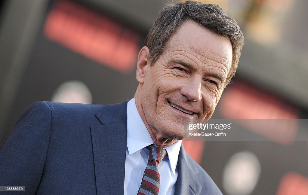 Actor <a gi-track='captionPersonalityLinkClicked' href=/galleries/search?phrase=Bryan+Cranston&family=editorial&specificpeople=217768 ng-click='$event.stopPropagation()'>Bryan Cranston</a> arrives at the Los Angeles premiere of 'Godzilla' at Dolby Theatre on May 8, 2014 in Hollywood, California.