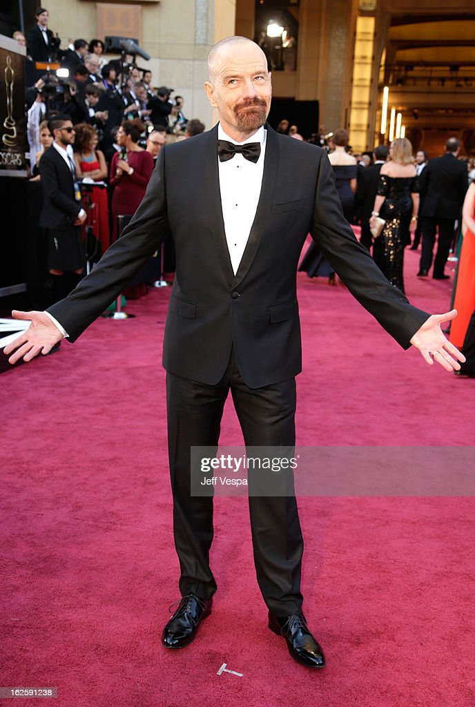 Actor Bryan Cranston arrives at the Oscars at Hollywood & Highland Center on February 24, 2013 in Hollywood, California.