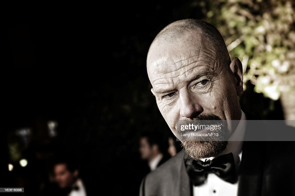 Actor Bryan Cranston arrives for the 2013 Vanity Fair Oscar Party hosted by Graydon Carter at Sunset Tower on February 24, 2013 in West Hollywood, California.