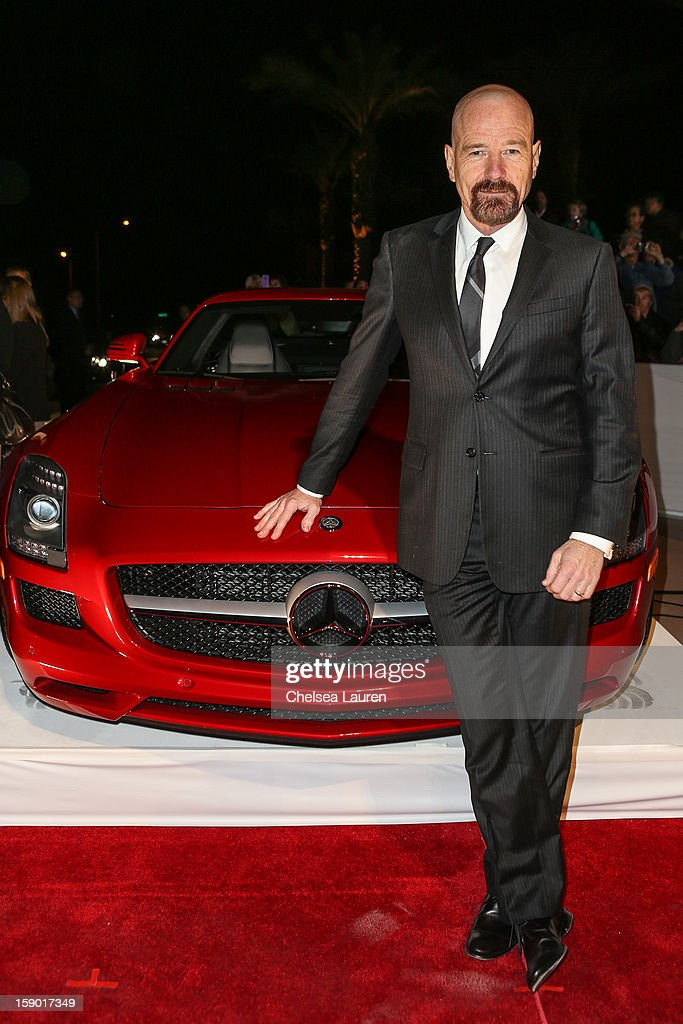 Actor <a gi-track='captionPersonalityLinkClicked' href=/galleries/search?phrase=Bryan+Cranston&family=editorial&specificpeople=217768 ng-click='$event.stopPropagation()'>Bryan Cranston</a> arrives in style with Mercedes-Benz at the Palm Springs International Film Festival at the Palm Springs Convention Center on January 5, 2013 in Palm Springs, California.