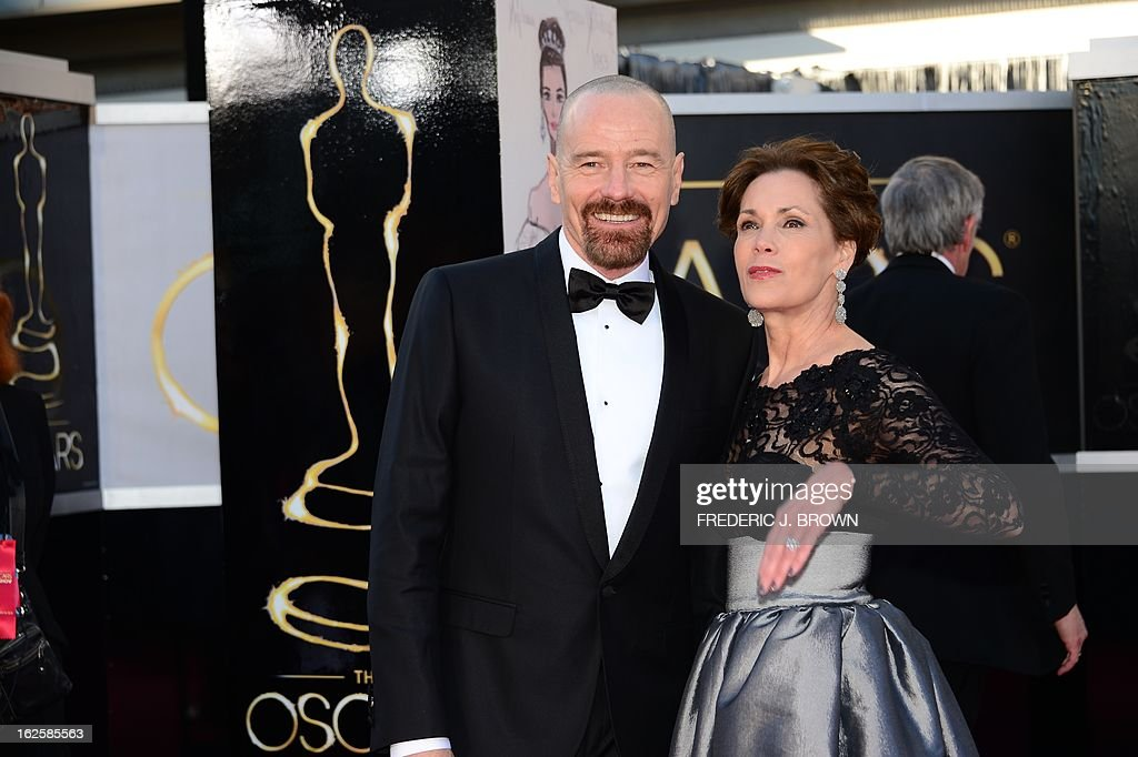 Actor Bryan Cranston arrives on the red carpet for the 85th Annual Academy Awards on February 24, 2013 in Hollywood, California.