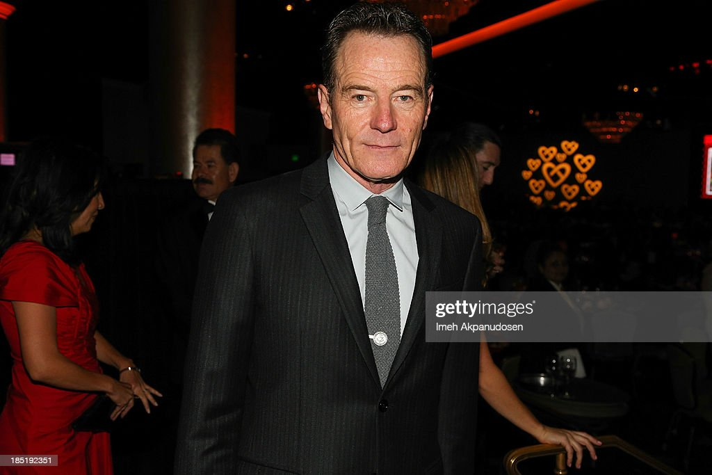Actor Bryan Cranston attends CoachArt's 9th Annual 'Gala Of Champions' at The Beverly Hilton Hotel on October 17, 2013 in Beverly Hills, California.