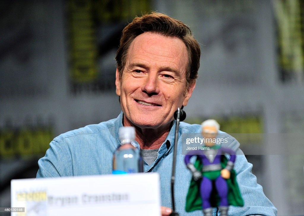 Actor <a gi-track='captionPersonalityLinkClicked' href=/galleries/search?phrase=Bryan+Cranston&family=editorial&specificpeople=217768 ng-click='$event.stopPropagation()'>Bryan Cranston</a> attends Crackle's 'SuperMansion' press room during Comic-Con International 2015 at Hilton Bayfront on July 9, 2015 in San Diego, California.